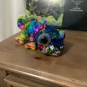 Ty 36797 karma flippable chameleon multicolor toy